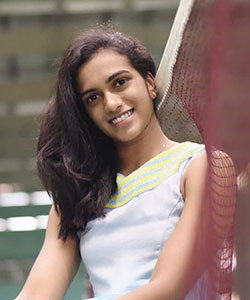 PV sindhu racket and shoe model