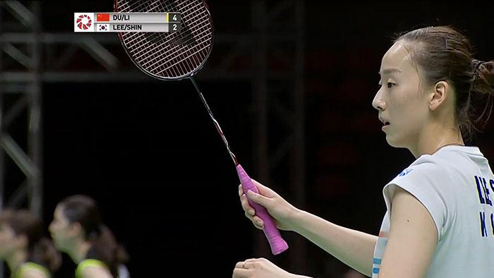 Lee So Hee Using a Yonex Nanoflare 700 racket in 2019 Toyota Thailand open